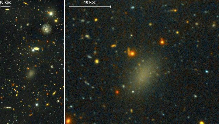 Найдена галактика, состоящая из темной материи
