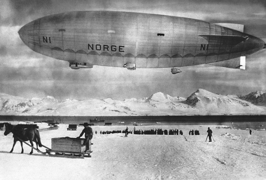 Нобиле и Амундсен - полет к Северному полюсу на дирижаблях