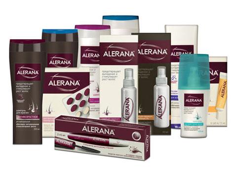 Средства от выпадения волос от Алераны