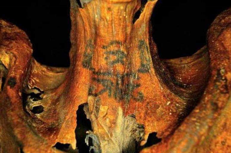 Татуировки древней египтянки