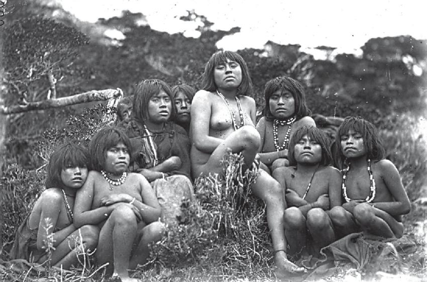 Индейцы ямана - туземцы с Огненной Земли