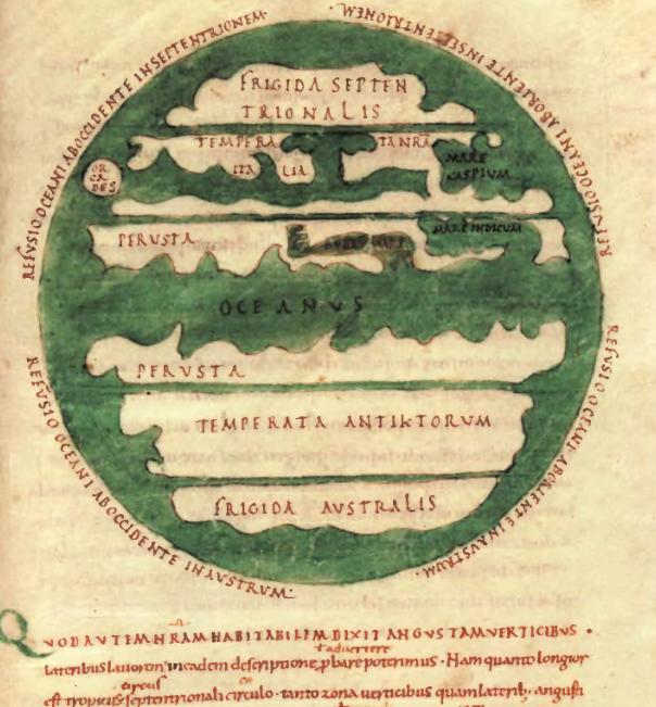 Древняя космография и география на картах Макробия