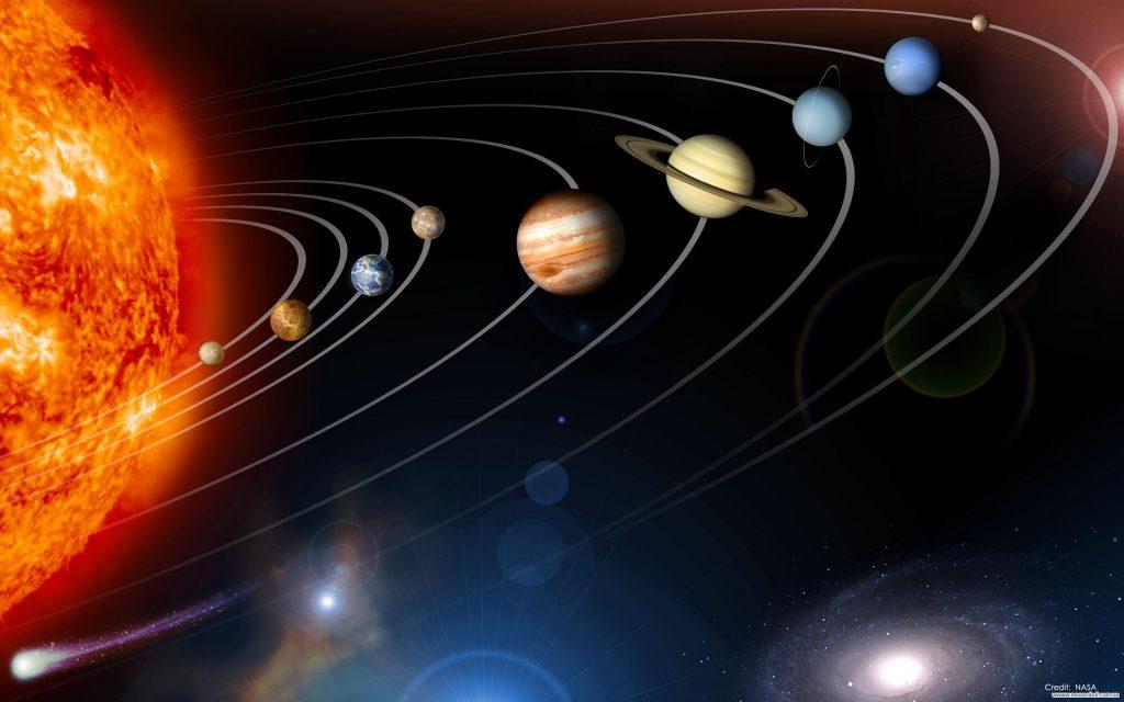 Солнечная система - разноцветное ожерелье Солнца