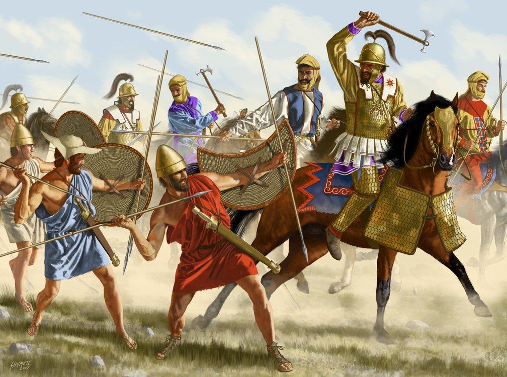 Скифская тактика персов оказалась лучше македонской фаланги