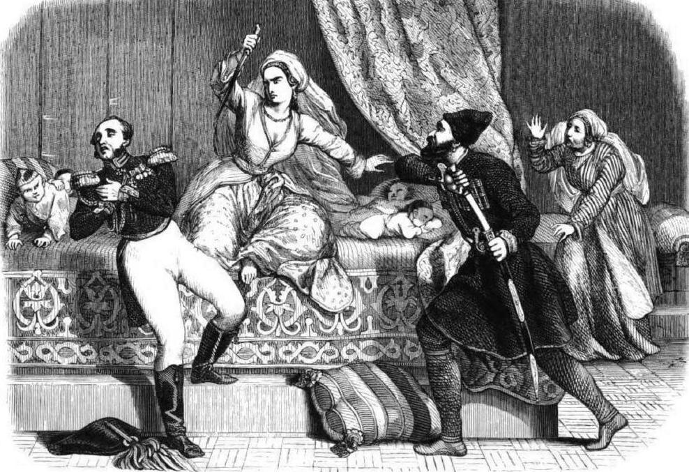 Русский генерал спасает Грузию от персов. В «благодарность» грузинская царица втыкает ему кинжал в живот...
