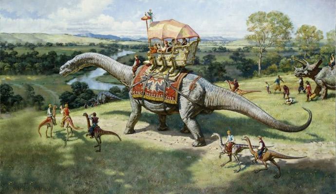 Человек во времена динозавров