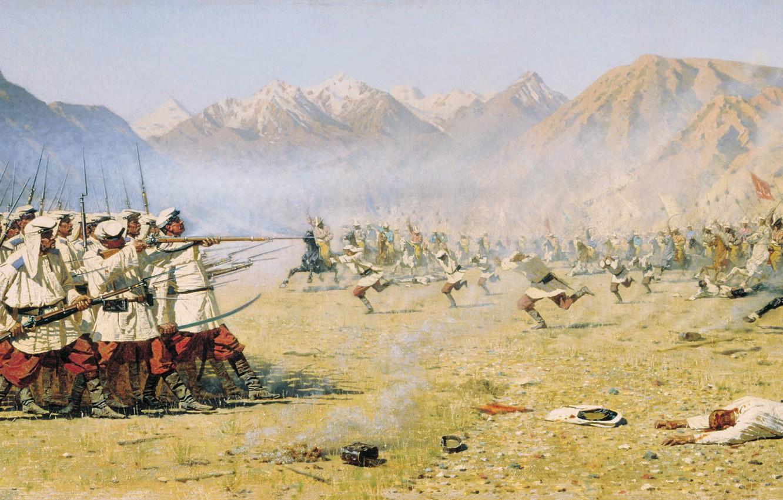 114 русских казаков выдерживают натиск 10 000 разъяренных узбеков, а затем прорываются из окружения к своим...