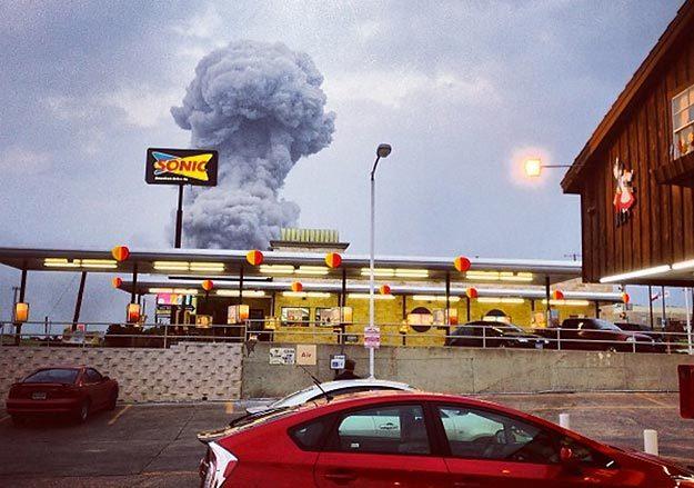 Мощнейший взрыв на заводе удобрений