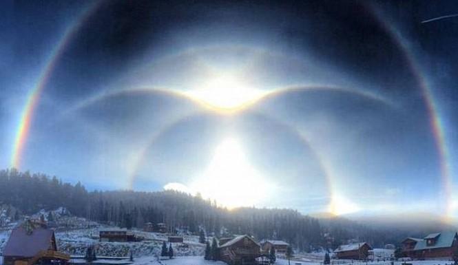 Удивительные оптические явления создаваемые Солнцем