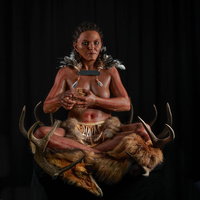 Реконструирован облик женщины из неолитического погребения