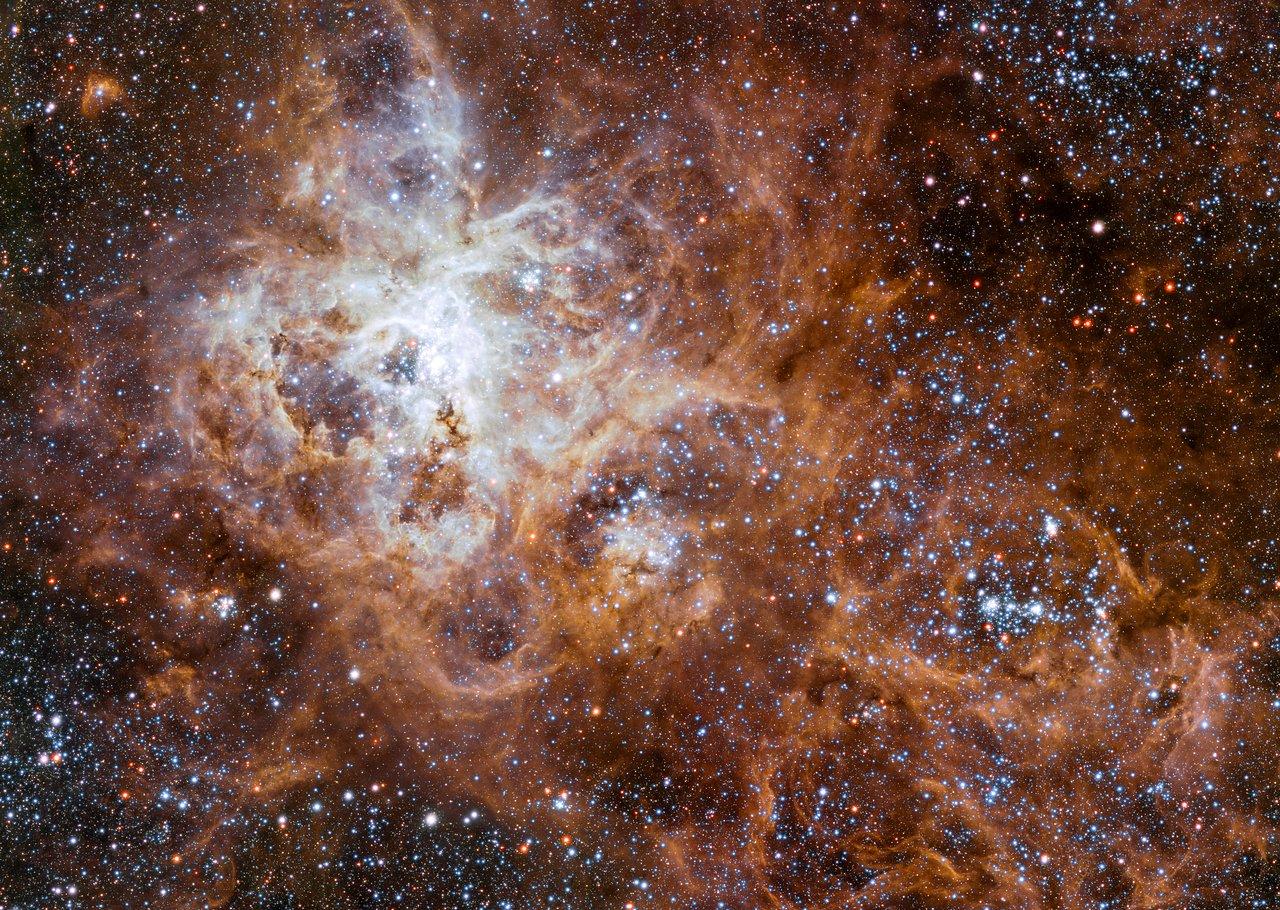 Гигантские звезды туманности «Тарантул»