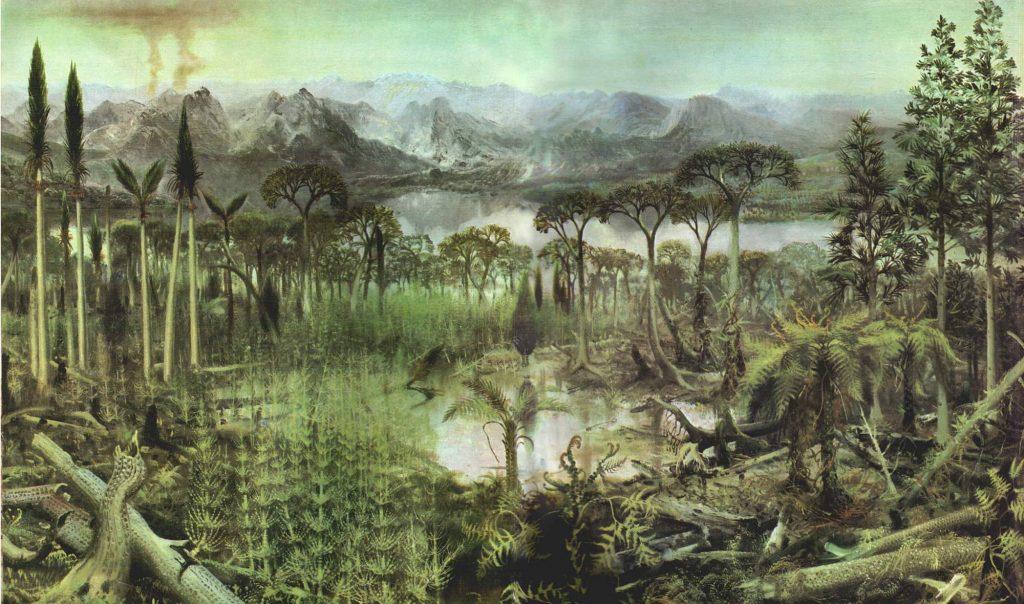 Леса и растения каменноугольного периода