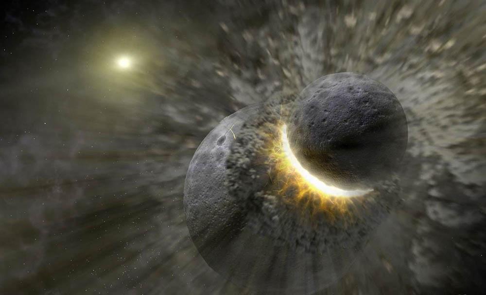 История возникновения Луны