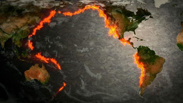 Как образовались цепи вулканов