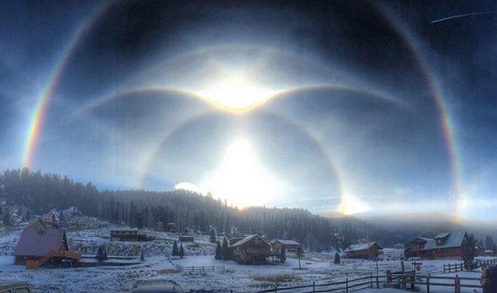 Оптическиеэффекты от солнечного света