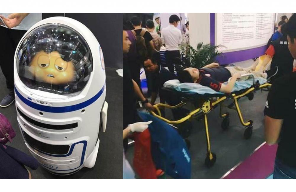 Первое нападение робота на человека