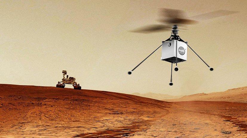 Над Марсом - на вертолете