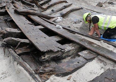 Корабль с Зеландии возрастом 500 лет