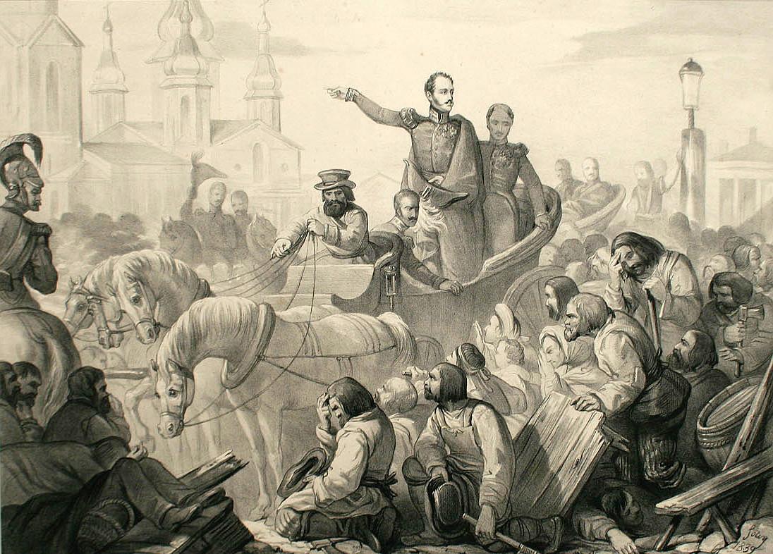 Холерный бунт - неизвестная Российская империя