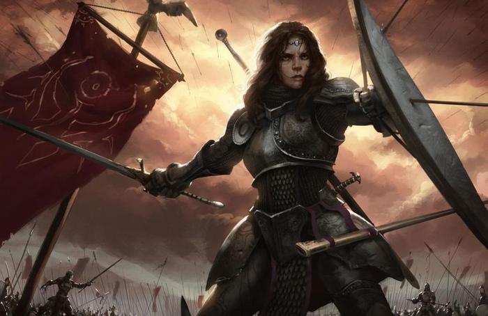 Эрменгарда Нарбоннская - женщина-рыцарь образовавшая орден Боевого топора