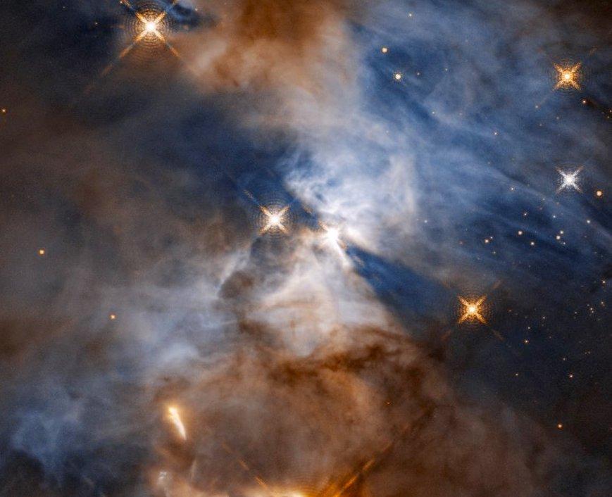 Космические тени в созвездии Змеи