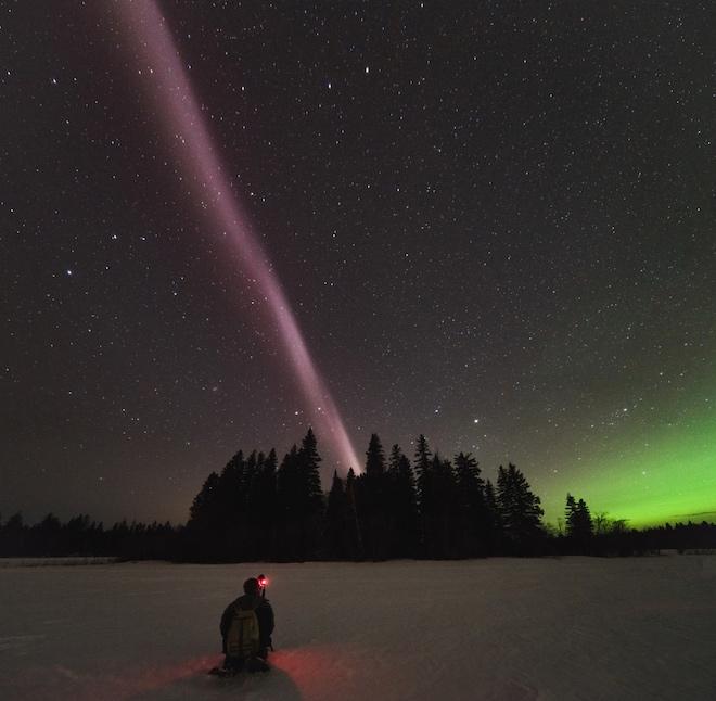 Стив: загадочная фиолетовая радуга появляющаяся над Арктикой