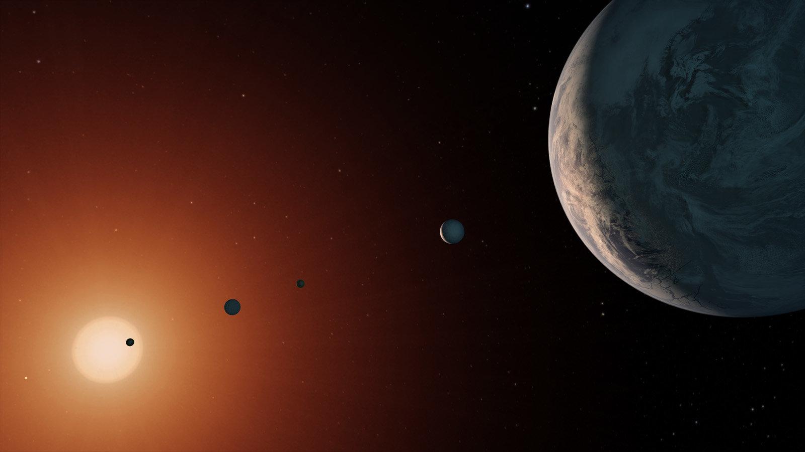 Красный карлик TRAPPIST-1 и его планетное семейство