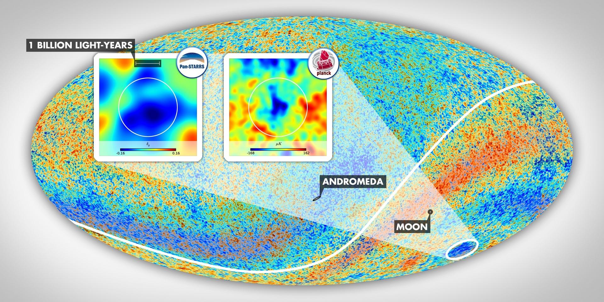 «Холодное пятно» — след столкновения вселенных?