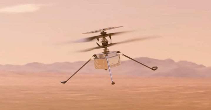 Полеты на дроне над поверхностью Марса