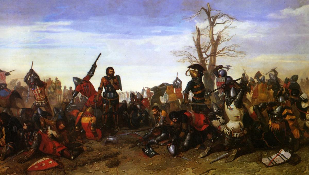 Битва при Азенкуре - «воюй не числом, а умением!»