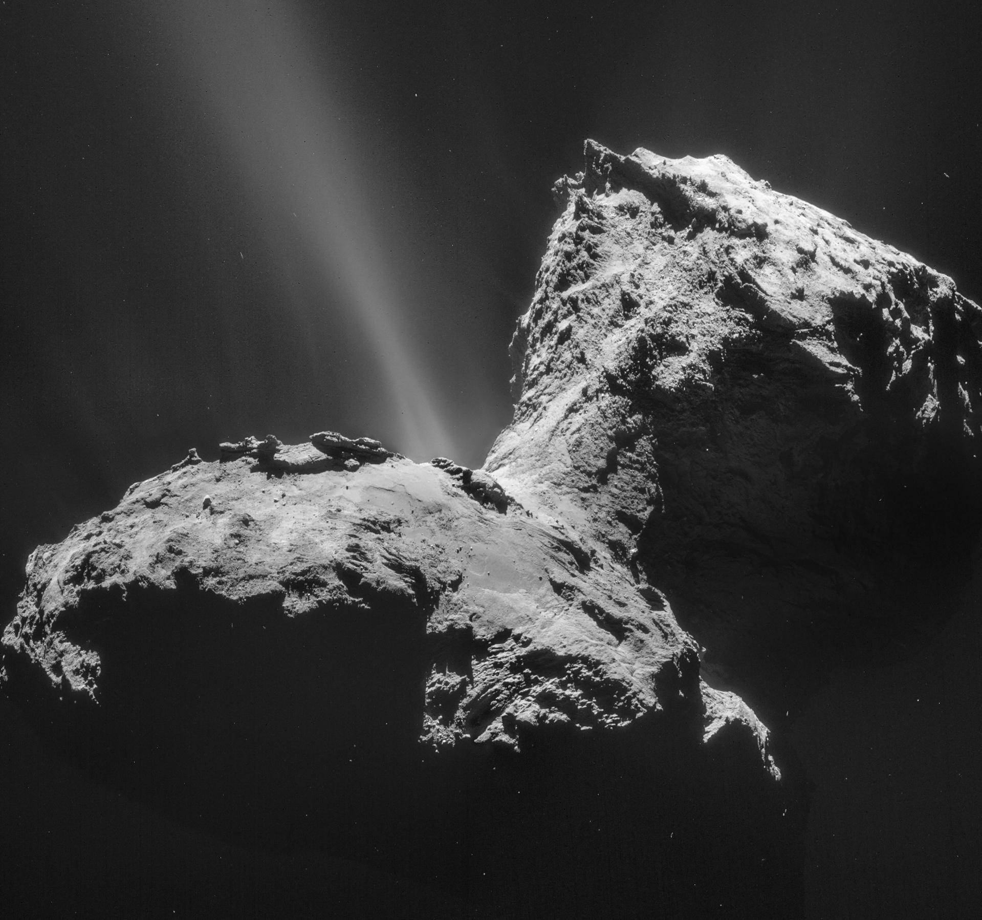 Rosetta: посадка на ядро кометы