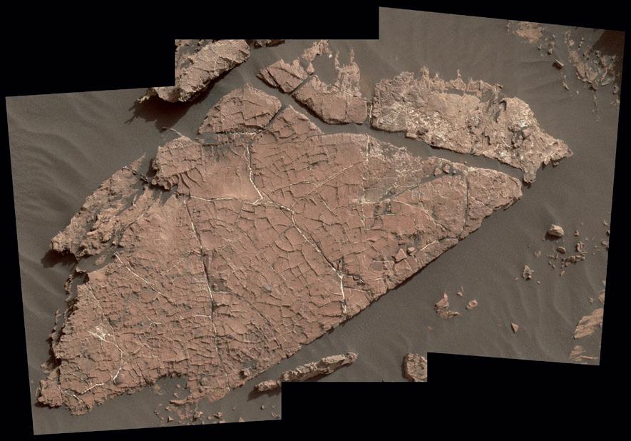Curiosity изучает «отпечатки трещин»