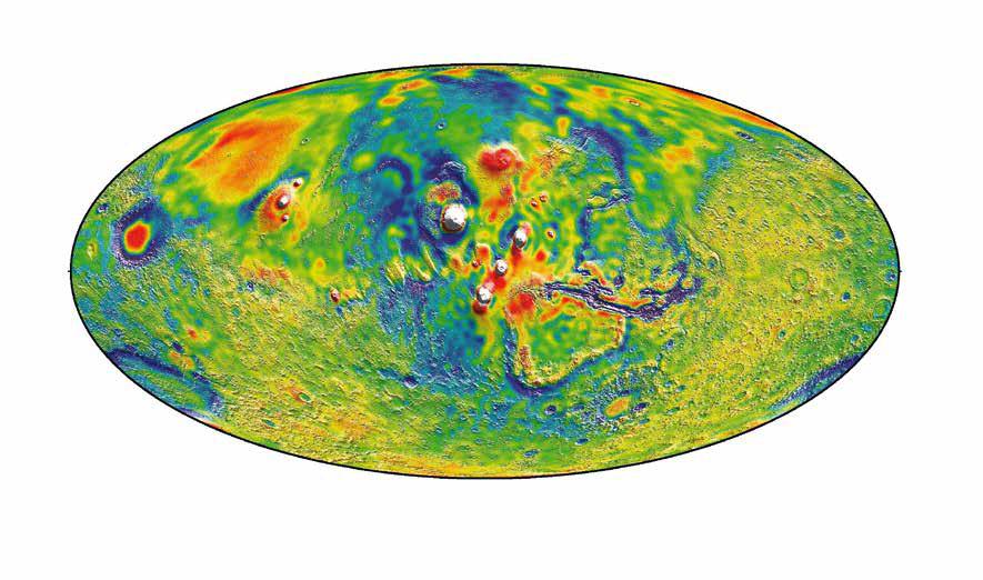 Детальная гравикарта Марса