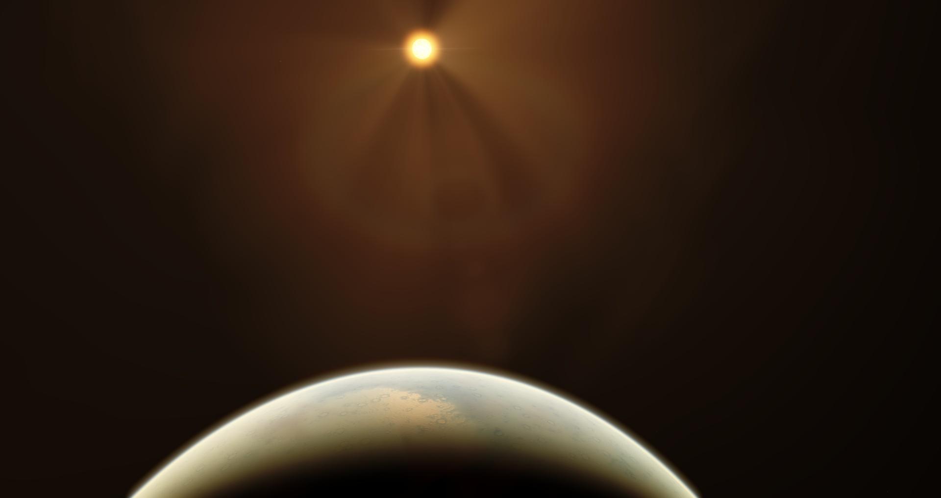 Экзопланета, потерявшая атмосферу