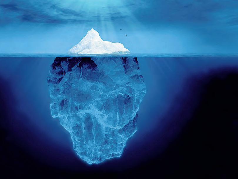 Айсберг вверх ногами