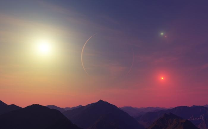 Планета четырех солнц
