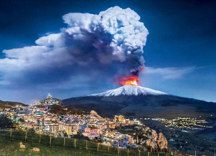 Вулканы, человечество, история