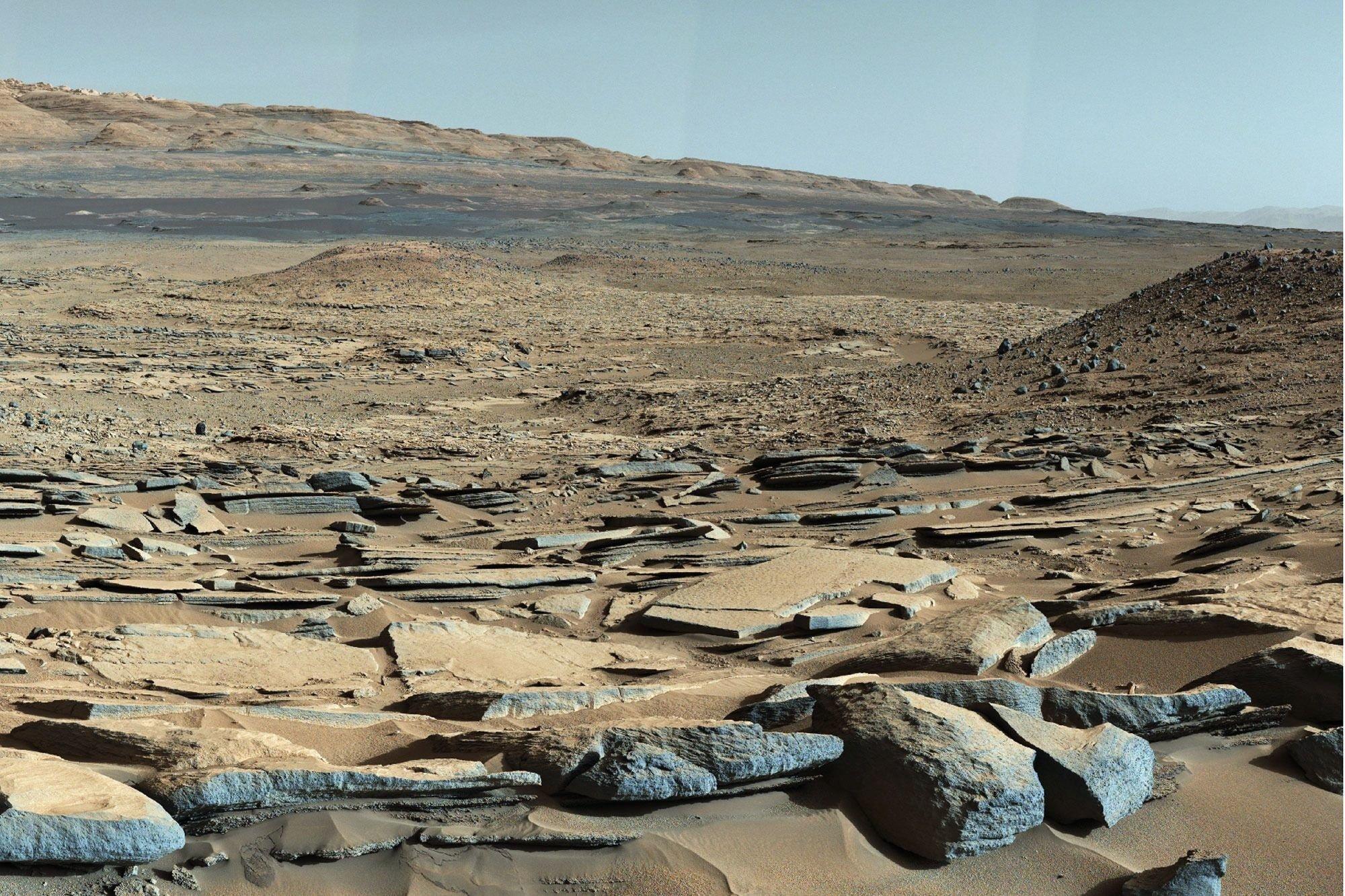 Следы древних марсианских озер