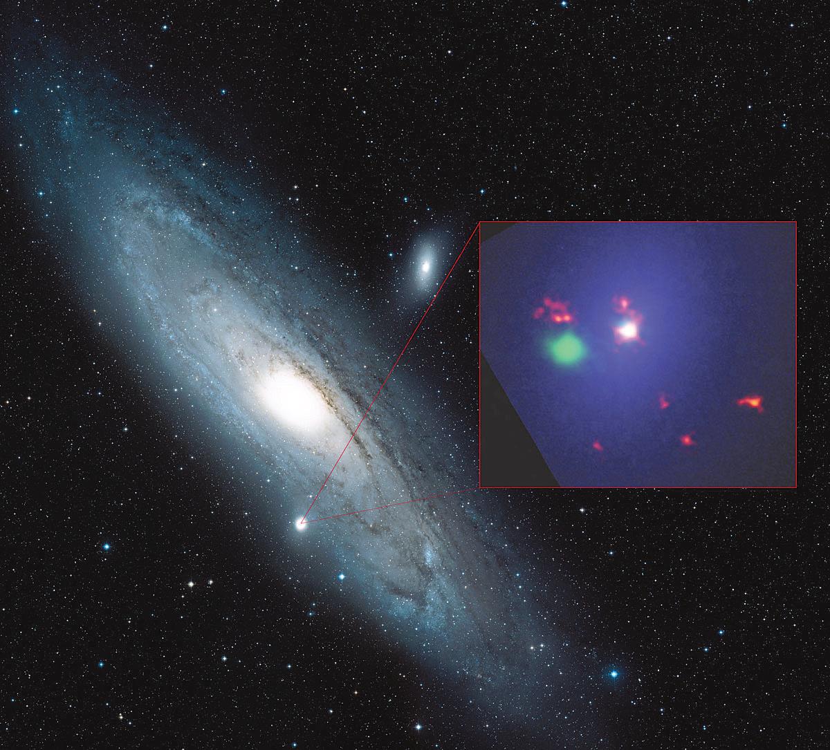 Черная дыра в соседней галактике