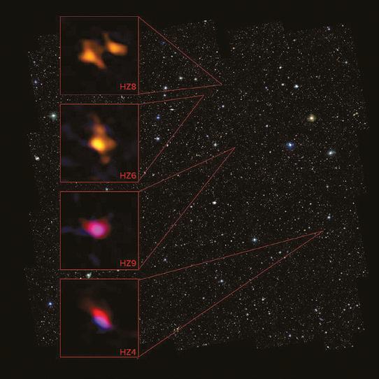 Обнаружены следы углерода в первых галактиках