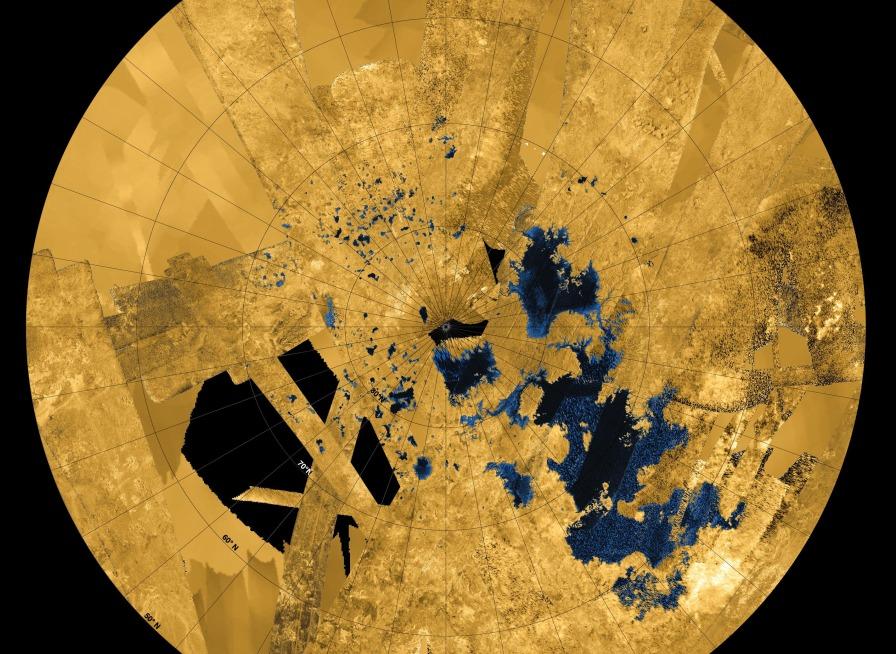 Таинственные озера Титана