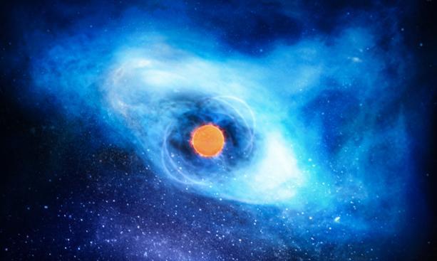 Пульсар внезапно «затормозился»