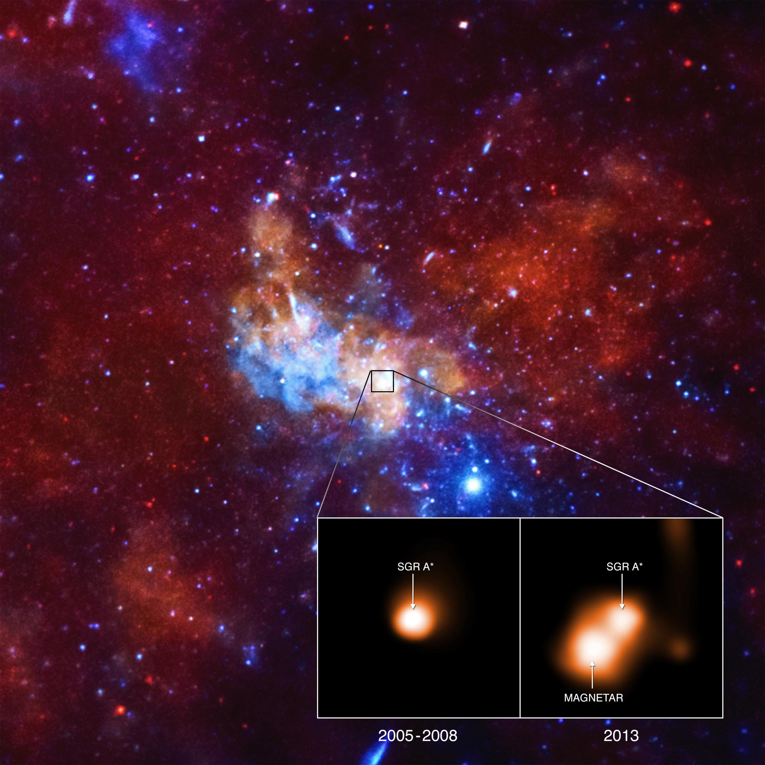 Сюрпризы магнитара в центре Млечного Пути