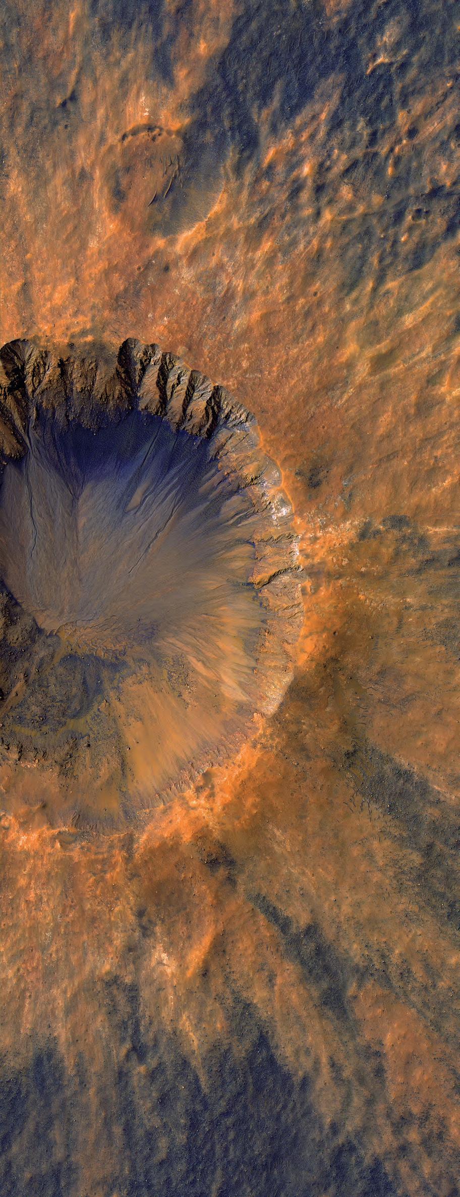 Молодой кратер в Бороздах Сирены