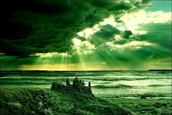 Следы звездных войн: голубая Луна, зеленое Солнце и черные дожди