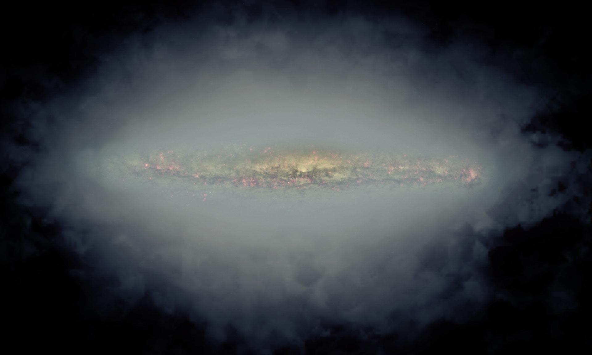 Впечатляющие радиогало спиральных галактик