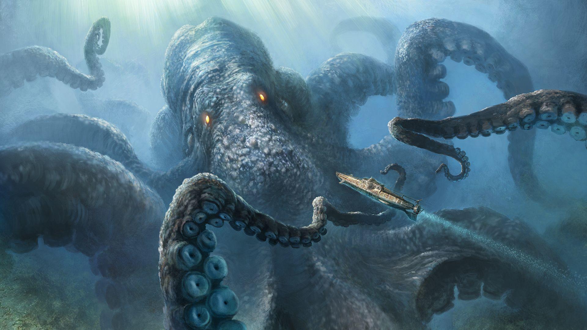 Кракен - спящий кошмар морских глубин