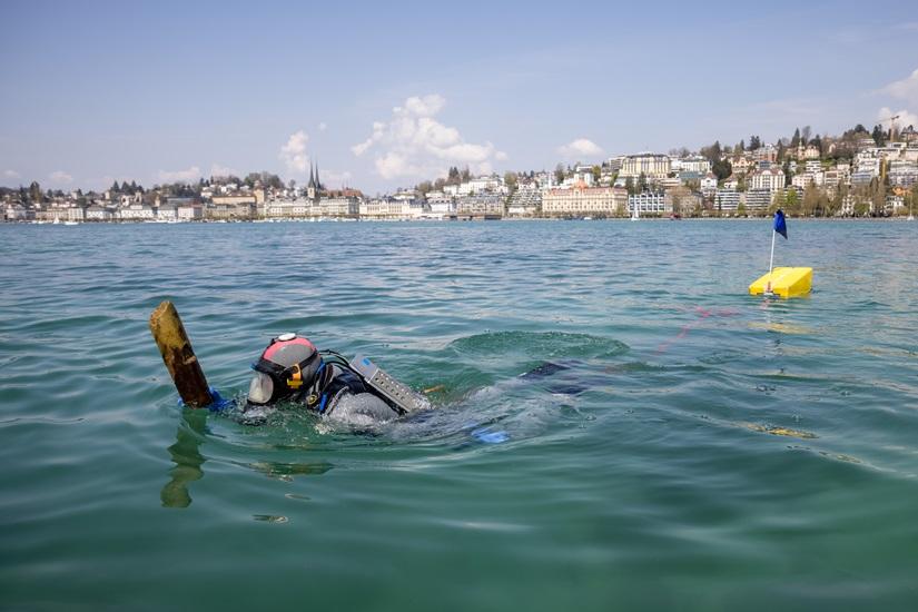 В Швейцарии на дне озера найдена деревня